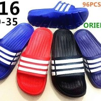 Grosir Sandal / Sendal model adidas strip 3 merk oriental size 30 - 35