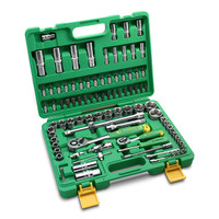 "SOCKET SET 1/4"" - 1/2"" 94 PCS 6 PT TEKIRO"