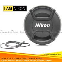 Lens Cap Tutup Penutup Lensa Kamera 58mm Logo Nikon 50mm F1.4G Dll