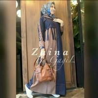 Pakaian Baju Busana Muslim Wanita Dress Maxi ZAINA Gamis Terbaru
