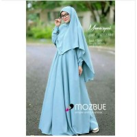 Pakaian Baju Busana Muslim Wanita MOURA Setelan Gamis Syari Terbaru