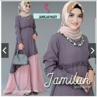 Pakaian Baju Busana Muslim Wanita Dress Maxi JAMILAH Gamis Terbaru
