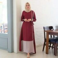 Pakaian Baju Busana Muslim Wanita Dress Maxi RALINE Gamis Terbaru