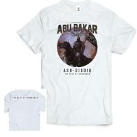 Kaos Pejuang Tauhid / Kaos Abu Bakar Ash-Shiddiq Putih / Kaos Premium