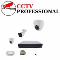 PAKET CCTV 3 CAMERA 4K ULTRA HD 5MP INDOOR OUTDOOR LENGKAP PLUS HDD