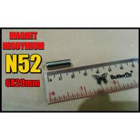 Magnet NeodymiumN52 6x20 mm Bulat Coin Super Strong Kuat