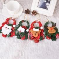 1Pc Ornamen Desain Pohon Natal untuk Pintu