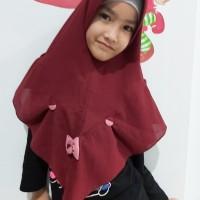 hijab jilbab anak instan pita kancing