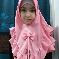 hijab jilbab anak instan pita rempel cantik