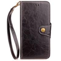 Retro Case For BlackBerry Keyone Classic Flip PU Leather Wallet Case C