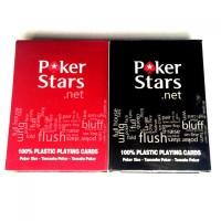Promo Poker Stars Kartu Remi Plastik Keren