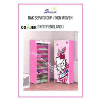Rak Sepatu CHP Cover Karakter 10 Susun 2Kg - KITTY ENGLAND,SHENAR