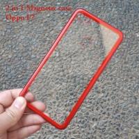 oppo f7 premium 2 in 1 magnetic case transparant