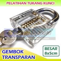BESAR Gembok Transparan Latihan Tukang Kunci Teknik Lock Clear Bening