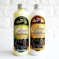Paket Caviar Bpom Original Shampoo + Conditioner / Jamin Ori 100%