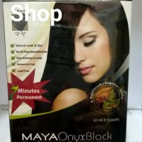 Maya Onyx Shampoo / Cat Rambut Black (Box Isi 5 Packs)