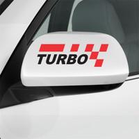 Cutting Sticker Mobil Racing Turbo Sticker Spion Mobil