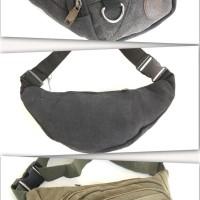 DISKON!!! TAS PINGGANG / WAIST BAG / SLING BAG IMPORT KANVAS B-SERIES