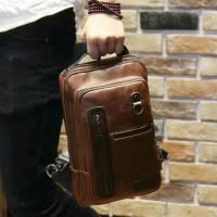 DISKON!!! TAS SELEMPANG KULIT PRIA SLING BAG IMPORT 6695 TERLARISSS
