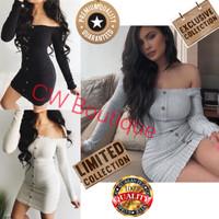 Mini Dress Kemben Stretch Summer Bodycon Pakaian Wanita Gaun Import