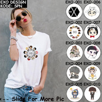 [FREE NAMA] Baju EXO [ KODE : EXO ] | Kaos Anak Dewasa Keluarga