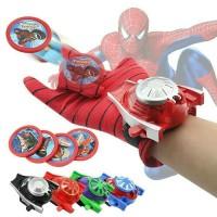 Sarung Tangan Tembak Anak Spiderman Hand Glove Web Shooting Pin