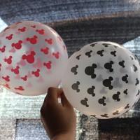 10Pcs Balon Model Transparan Mickey Ukuran 12 Inci untuk Pesta Ulang