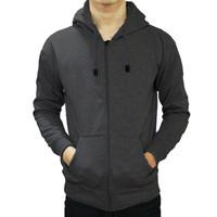 Best seller !!! Jaket Sweater Polos Hoodie Zipper/Resleting Abu Tua