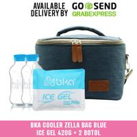 BKA Cooler Bag Blue + Ice Gel 420rg + 2 Botol Asi 100ml