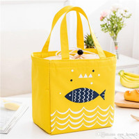 Lunch Bag Alumunium/ Cooler Bag/Tas Bekal Motif Tote Fish Serut