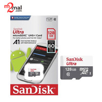 MicroSD Sandisk Ultra 128GB UP TO 80MB/S Class 10 Tanpa Adapter