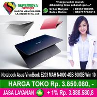 Notebook Asus VivoBook E203 MAH N4000 2GB 500GB Win 10