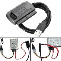 Terlaris USB 2.0 To SATA/IDE Data Hard Drive Cable For HDD Power