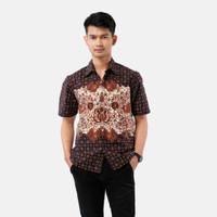 Batik Pria Tampan -KMPD PSG POLA REG TRUNTUM SIDOMUKTI - Cokelat, S