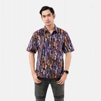 Batik Pria Tampan -KMPD REG CAP ABS PURPLE ZIG ZAG - Ungu, M
