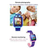 Kids Smartwatch Jam Anak Q12 GPS Phone Sim Card Camera Game Pedometer
