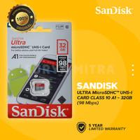 Micro SD SanDisk 32GB A1 Class 10 98MB/s ULTRA   microSD Card 32 GB