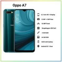 HANDPHONE BARU OPPO A7 RAM 4 INTERNAL 64 GB