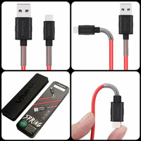 Vivan FM100 2.4A 1M Spring Micro USB Data Cable for Android
