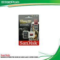 MEMORY SANDISK EXTREME PRO MICRO SD 64GB CLASS 10 SPEED 95MB/S