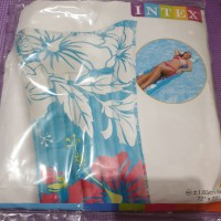 kasur intex motif inflatable floating tub kolam renang new