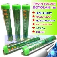 Timah Solder Botol 1m 0.8mm Glossy Finish High Purity Tin Wire Kilap