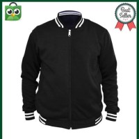 Jaket Sweater Pria Harga Grosir Jaket Baseball Varsity Polos Black