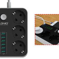 Travel Charger LDNIO 6 Port USB 3 Power Socket LDNIO Stop Kontak Trave