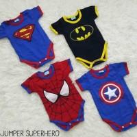 DISKON!!! JUMPER BAYI COWOK SUPERHERO SUPERMAN BATMAN SPIDERMAN
