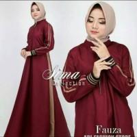 Pakaian Baju Busana Muslim Wanita Long Dress FAUZA Gamis Terbaru