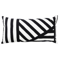 SKARVFRO Bantal kursi sofa katun 30x60cm hitam/putih