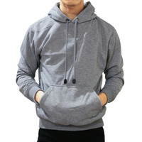 Best seller !!! Jaket Sweater Polos Hoodie Jumper Abu Muda Unisex