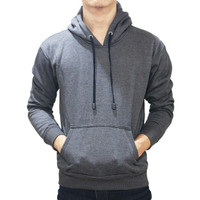 Best seller !!! Jaket Sweater Polos Hoodie Jumper Abu Tua Unisex Keren