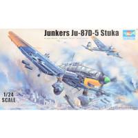 pesawat Ju-87D-5 Stuka 1/24 model kit trumpeter